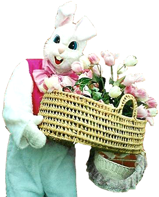 <div class='curved_float' style='background-color:white;padding:10px;width:212px'><div class='paragraph_black' style='font-size:16px;font-weight: bold'>Easter Bunny</div><div class='paragraph_black' style='font-size:11px'>Make your family or community Easter egg hunt the most memorable of holidays with a special visit from the real Easter Bunny!  She comes to assist the kids in finding her eggs and then takes them on a whirl of Easter fun.  She teaches them to do the Bunny Hop, plays games and performs balloon twisting.  Our bunnies can come in full mascot masks or in full face paint so as not to scare the little ones.  They are also available for telegrams.</div></div>